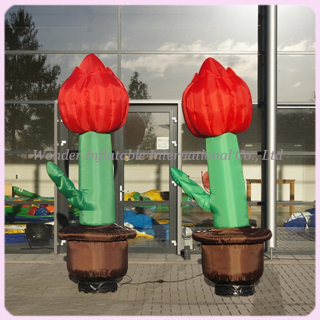 Custom 2m giant inflatable tulips for party decoration