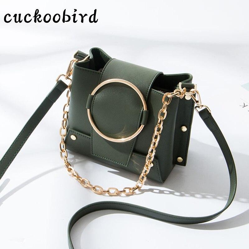 Cuckoobird Femelle Messenger Sac Nouveau Rabat Mode Haute Qualité Solide Femmes Sacs à Bandoulière Rivet Messenger Sac pour Partie