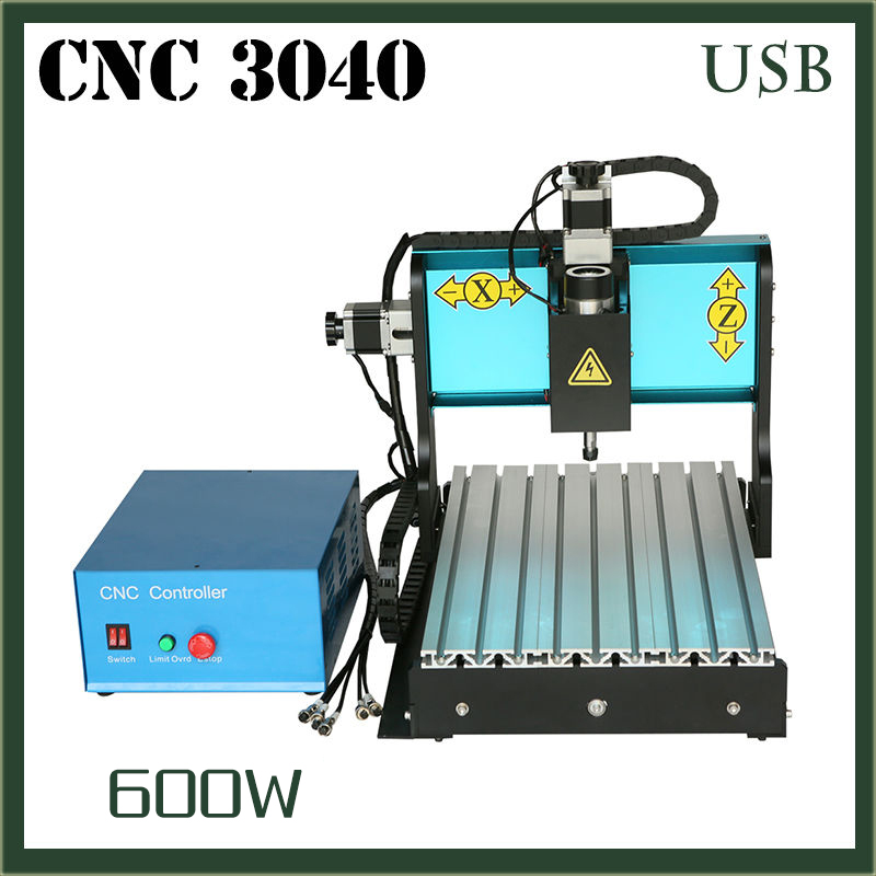 JFT CNC 3040 600W 3 Axis With USB 2.0 Port 3D Engraving Machine Routers Woodworking Mini Woodworking Machine PVC Mill Engraver