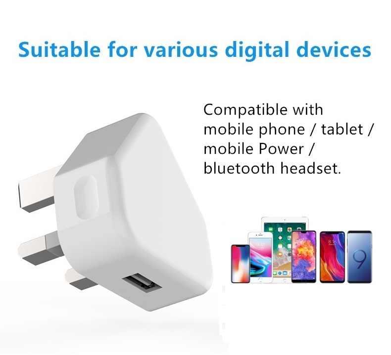 Adaptador de corriente de cargador de pared portátil UK Plug 5V1A para Letv Leeco Le 1/Le 2/Pro 3/ max S3 teléfono móvil de viaje cargador USB rápida