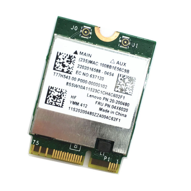 US $21 8 |Wireless Adapter Card for Broadcom BCM94352Z Dual band AC NGFF  802 11ac 867Mbps WIFI Bluetooth BT 4 0 For IBM/Lenovo 04x6020-in Network