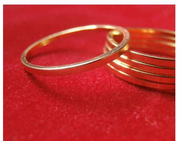 Rx500 1 piezas nueva moda aleación geométrica Simple círculo anillo accesorios encantador pulido mujer joyería regalo para chica