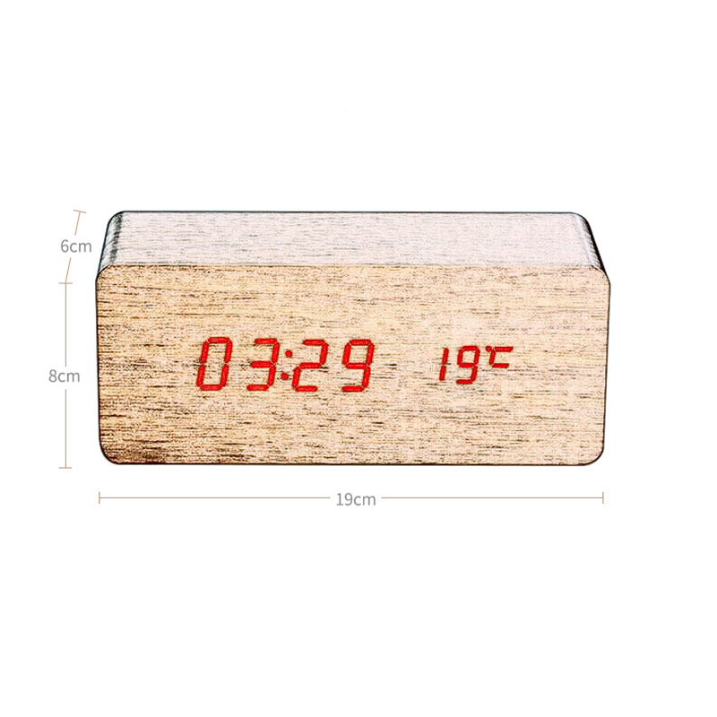 design Antique office Electronic digital Temperature Sounds Control LED display alarm clock Classic desktop Radio alarm clock