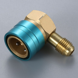 Image 4 - Adaptador de manguera R1234YF a R134A lado bajo R1234yf acoplador rápido 14 mm hembra 1/4 pulgadas SAE macho