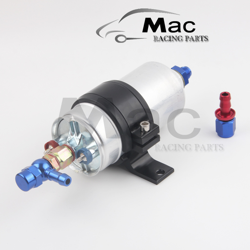 the kit oil pump 0580 254 044 external pump Inline Electric High performance Fuel Pump come with AN6 fitting Fuel Pump Bracket - promotion lowest price high performance 12v electric fuel pump for jaguar color for head red black green