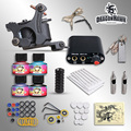 High Quality Complete Tattoo Kit Set Equipment 1 tattoo Machine Power Supply gun 4 Color Inks