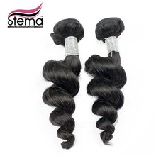 Free Shipping 2pcs/lot Brazillian Virgin Hair Loose Wave One Donor Young Girl Full Cuticle aligned Hair Products Human Hair
