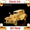 Chegada nova Presente Clássico Modelo Em Escala Do Carro 3D de Metal Artesanato Modelo de Montagem Casa Decoração Presente Engraçado Brinquedos Mini Jogo de Puzzle