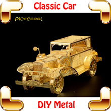 New Arrival Gift Classic Car 3D Model Scale Metal Craft Assembly Model Home Decoration Funny Present Toys Mini Puzzle Game