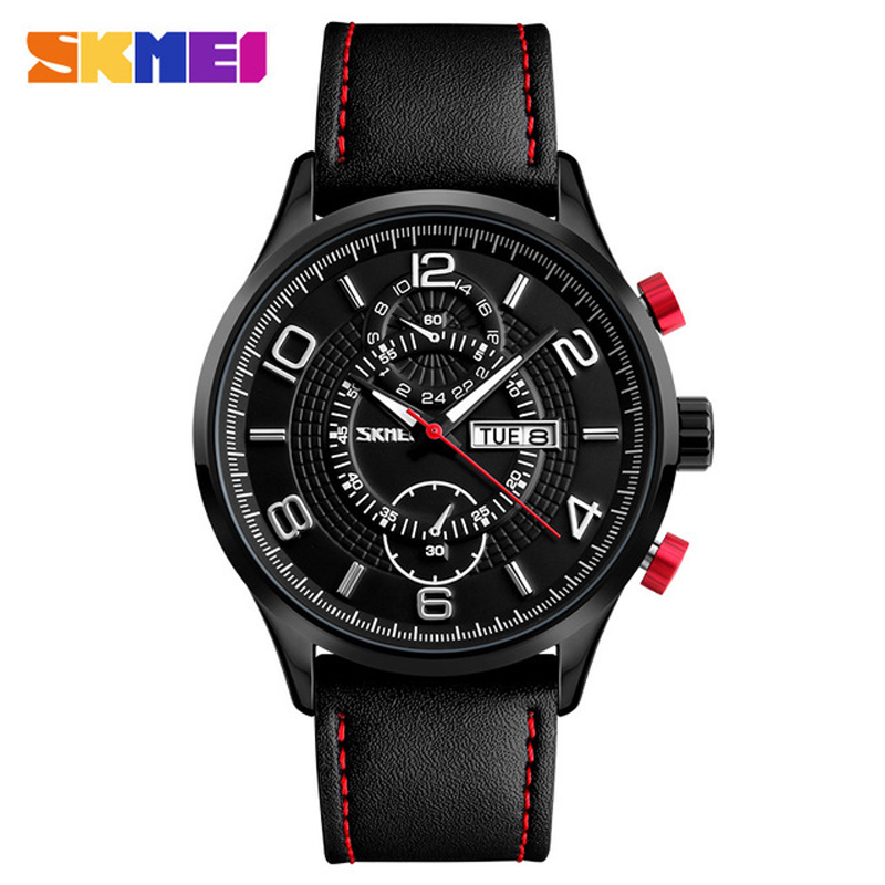 Fashion Quartz Watches SKMEI Brand Men Luxury Watch Leather Waterproof Wristwatches Calendar Clock Relogio Masculino 2017 1603S baby clothes autumn winter baby rompers jumpsuit cotton baby clothing next christmas baby costume long sleeve overalls for boys