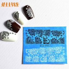 Dropshipping 48 sheets New Flower Lace Nail Art Water Transfer Stickers Nail Tips Decoration Mar10