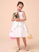 Роскошный line Атласная кот Цветочница Платье с Аппликацией цветок дети девушки формальные платья партии