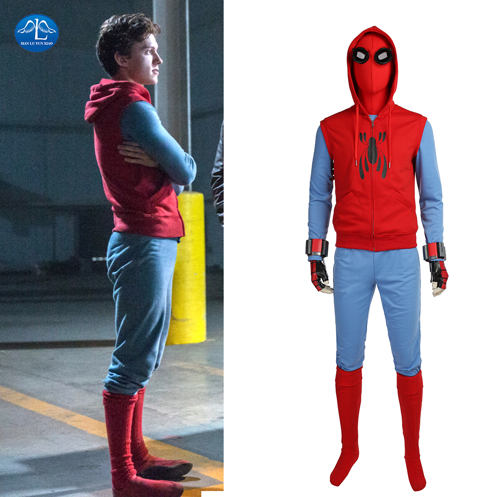 MANLUYUNXIAO Spiderman Homecoming Cosplay Costume Halloween Spiderman Costume For Men Custom Made