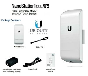 Image 2 - Ubiquiti NanoStation LocoM5 5GHz Wireless Network Bridge airMax 13dBi CPE Within 2 KM 1 piece (Only one! Must be used with two )