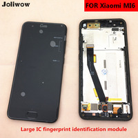 With Big IC Fingerprint Recognition FOR Xiaomi Mi6 Mi 6 LCD Display Touch Screen Frame Replacement