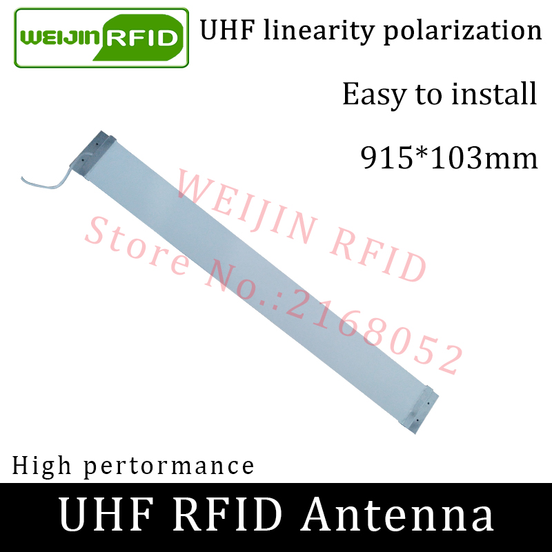 UHF RFID Strip Thin Antenna Vikitek 915MHZ Middle Range 920-925M Self-service Supermarket Embedded Doorframe Rfid Reader Antenna