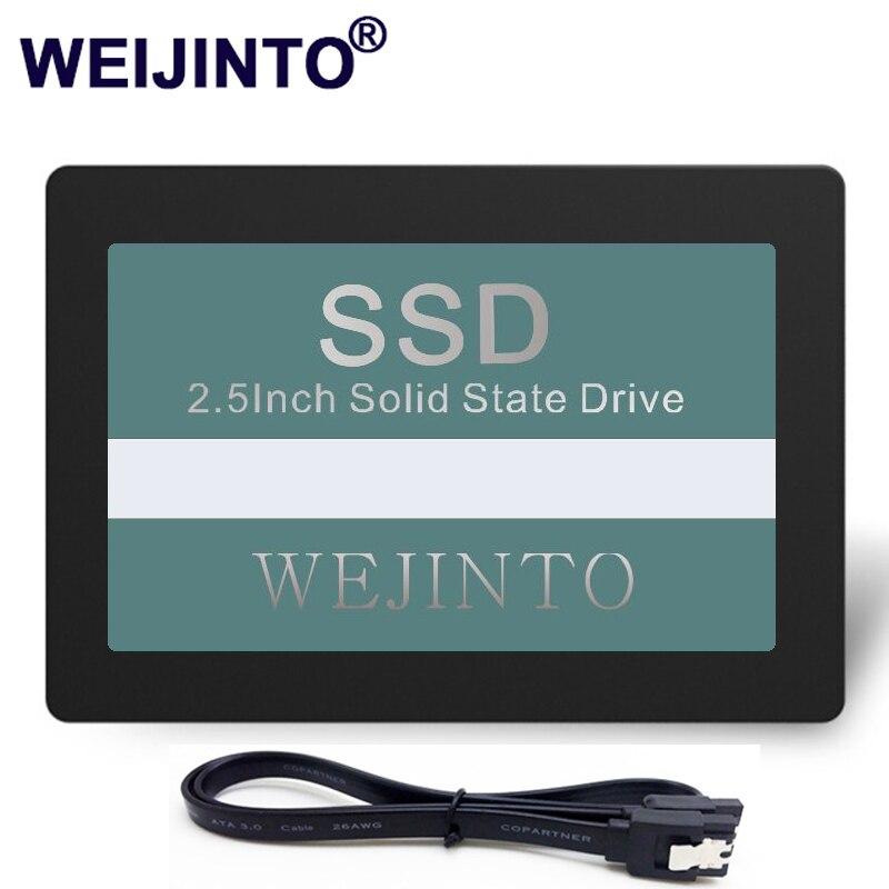 WEIJINTO SSD 60 ГБ внутренний жесткий диск твердотельный диск 64 ГБ с 45 см sata3.0 Кабель