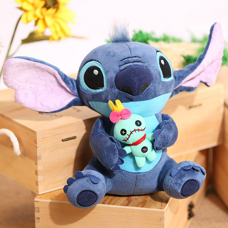 1pc 23cm Hot Sale Cute Cartoon Lilo and Stitch Plush Toy Soft Stuffed Animal Dolls Best Gift for Children Kids Toy купить