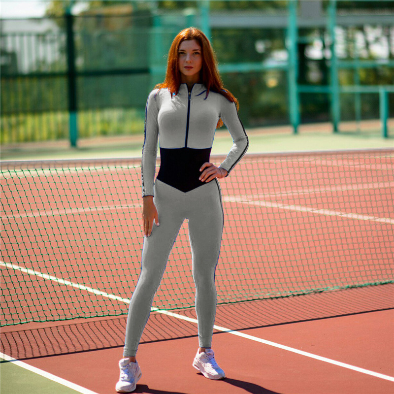 H&Y 2017 New Arrival Gather Fitness Sets Hoodies Jumpsuits Women Casual Skinny Rompers Female Stretch Bodysuits Pants Leggings
