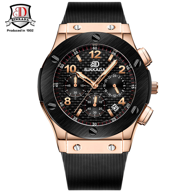 цена на Fashion Men Watches Brand Luxury Casual Military Chronograph Sports Wristwatch Silicone Strap Male Clock watch relogio masculino