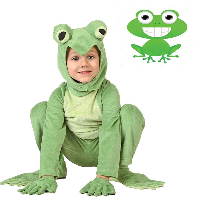 Kids Frog Prince Costume Little Frog Costume Animal Onesies Jumpsuit Fancy Dress Carnival Halloween Costumes Animal Cosplay
