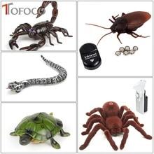 TOFOCO infrapuna kaugjuhtimispult Cockache / madu / ämblik / skorpion / kilpkonnimäng võltsitud RC mänguasja loomade trikk uudsus