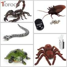 TOFOCO Infrared Remote Control Cockroache Snake Spider Scorpion Turtle Mock Fake RC