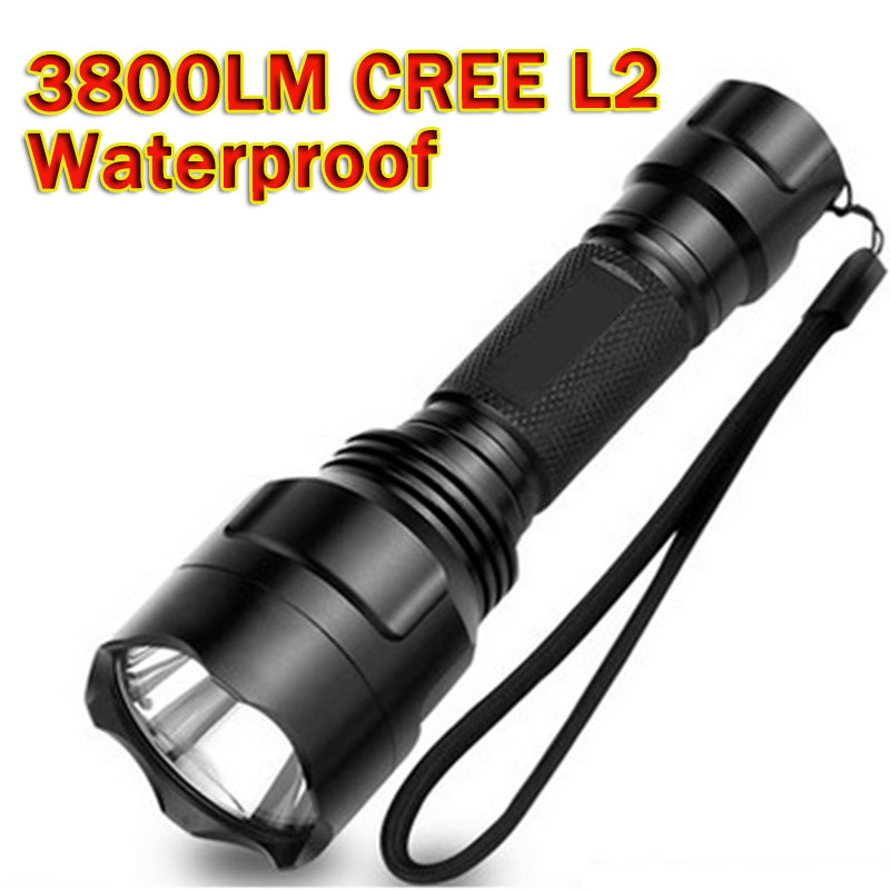 3800 Lumens Powerful Led Flashlight led L2 Flashlight Waterproof LED Torch lanterna Torch Hunting lampe de torche ZK62