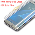 (Not Tempered Glass Film ) PET Protector Curved Soft Screen Protector For Samsung Galaxy S6 Edge S6edge Plus For Samsung S7 Edge