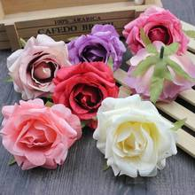 3 PCS/lot 7cm Multicolor Artificial rose head Use For Wedding Decoration DIY Wreaths Craft Gift Supplies