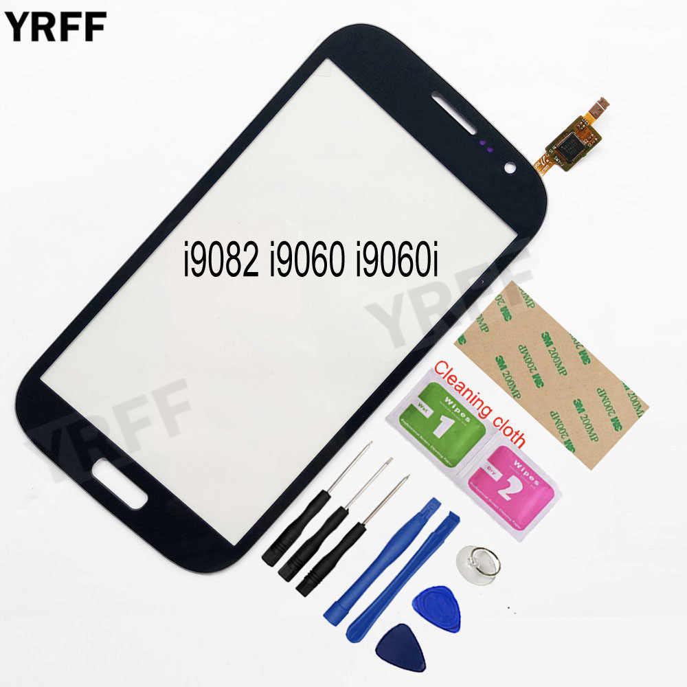 עבור Samsung Galaxy גרנד GT i9082 i9080 ניאו i9060 i9060i i9062 i9063 מגע Digitizer מסך מגע פנל קדמי זכוכית עדשה חיישן