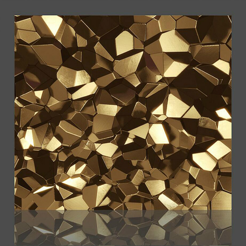 Golden polygon 3d wallpaper for walls 3d wall paper tv for Wallpaper home renovation