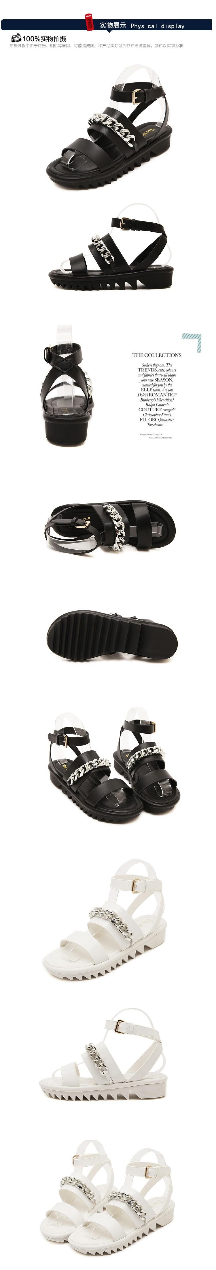 Platform Sandals 2015 Summer Style Teeth Bottom Shoes Women Black Tendencies Footbed Hitam 43 Product Description
