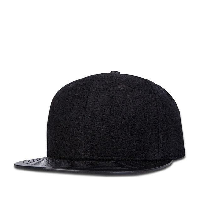 JIYOUOU Originale di Lana di qualità Berretto Da Baseball Regolabile  cappello planas hip hop Cappello Nero c246184133ad