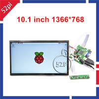 52Pi 10.1 inch 1366x768 LCD Display HDMI Monitor TFT Panel for Raspberry Pi 3/2 Model B and Windows