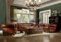 2016 погремушка диваны в Muebles Американский Стиль одно место под старину без Лидер продаж сразу фабрика высокое качество/chesfeld диван B030