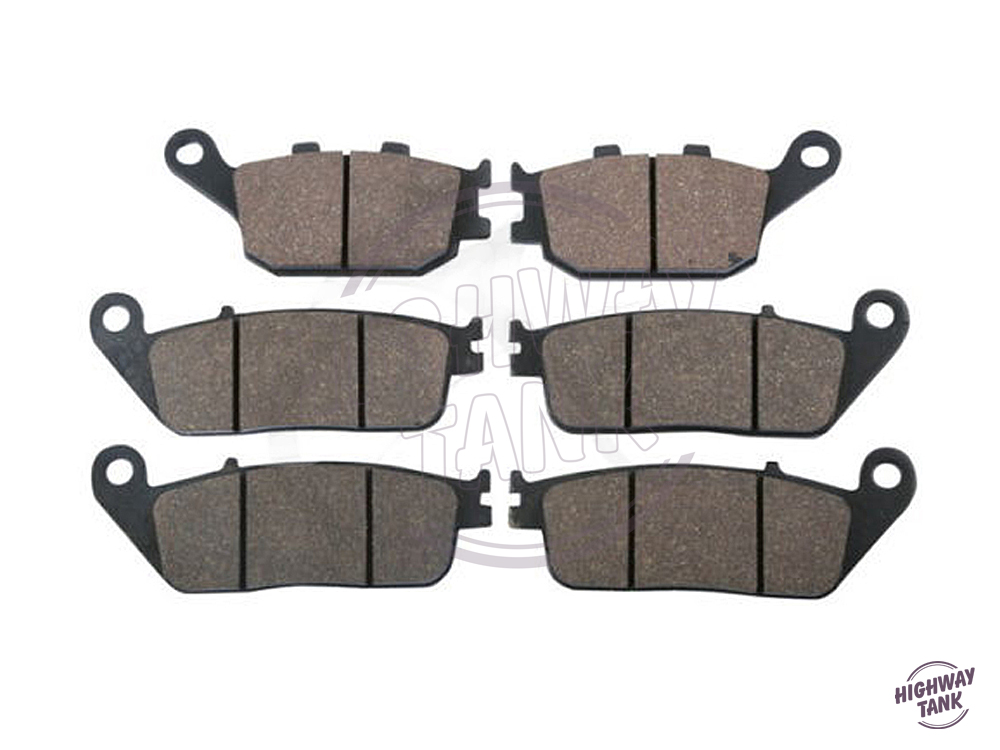 6 Pcs Motorcycle Front & Rear Brake Pads case for HONDA CB 600 HORNET S 2000 2001 2002 2003 2004 2005 2006 free shipping for suzuki sv400 2003 2013 sv650 2003 2005 dl650 2004 2014 dl1000 2002 2010 motorcycle front and rear brake pads set