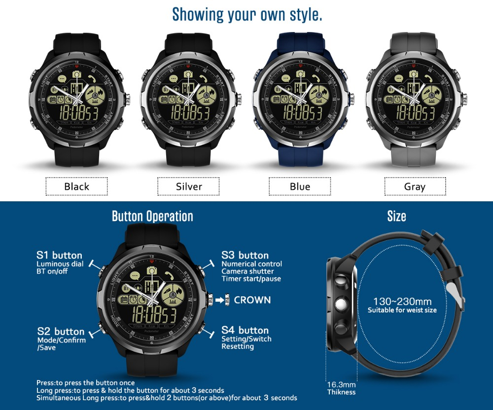 New Zeblaze VIBE 4 Hybrid Flagship Rugged Smartwatch 50M Waterproof 33-month Standby Time 24h All-Weather Monitoring Smart Watch 17