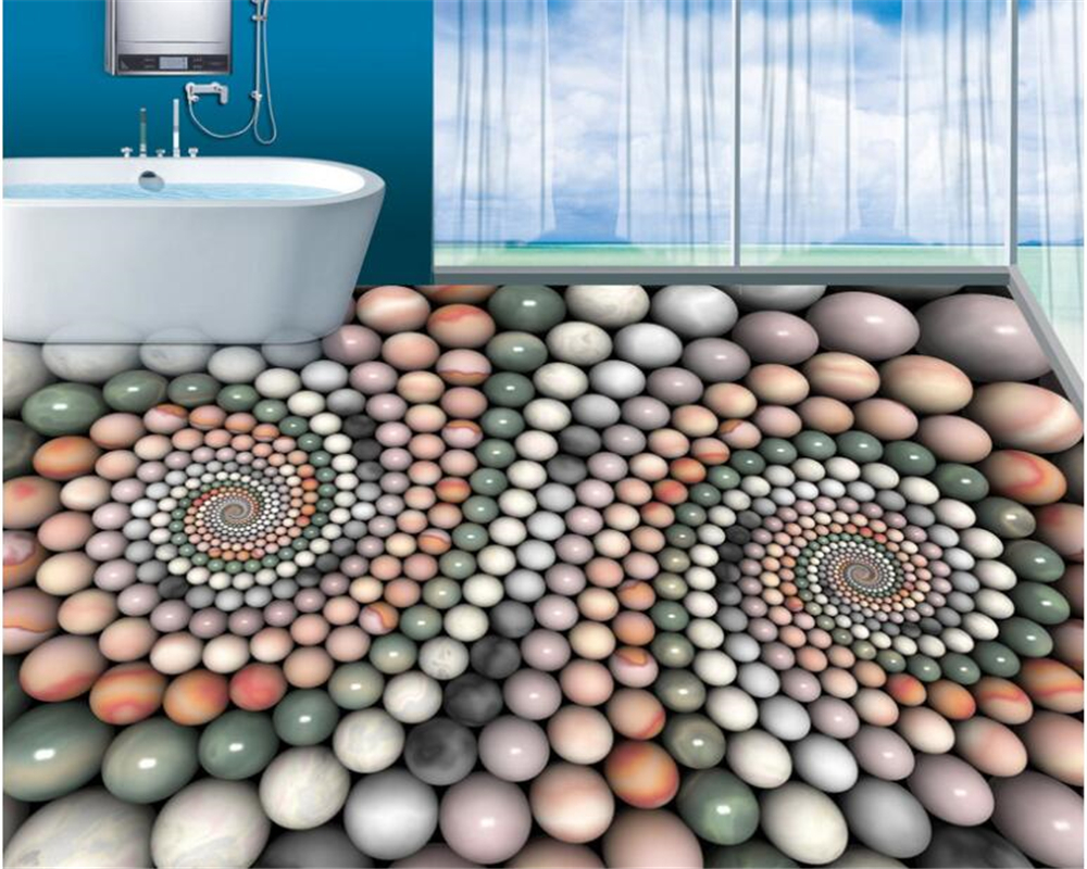 beibehang 3d flooring Creative abstract three-dimensional jade bead bathroom 3D floor tiles papel de parede 3d wallpaper tapety Herbal Products f4843c1c797abf1a256c88: 1 square Meter