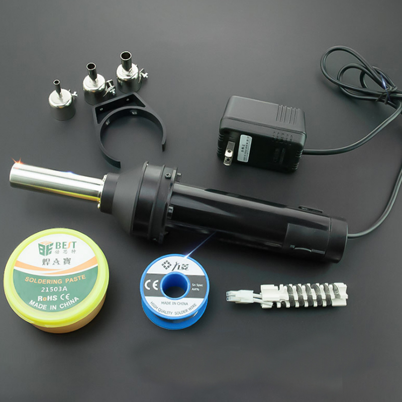 Portable Hot Air Gun 8032 Standard  420W Adjustable Temperature Desoldering Station Chip Repair Hand Soldering Gun Hot Air Tube