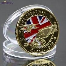 Новая позолоченная памятная монета Великая война художественная коллекция коллекционные подарки Jun20_25