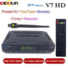 10pcs lot DVB S2 V7 V7S HD TV Receiver satellite Decoder USB WIFI 1080p HD youtube