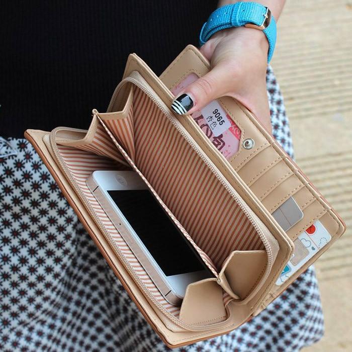 Women Purse Wallet Business Card Holder Billeteras Para Mujer New Fashion Lady  Women Long Purse Clutch Wallet Bag Card Holder-in Wallets from Luggage    Bags ... 3e2b534188