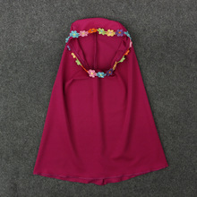 Two sets Traditional Flower Kids clothing Fashion Child Abaya Muslim Girl dress jilbab and abaya islamic Children hijab dresses