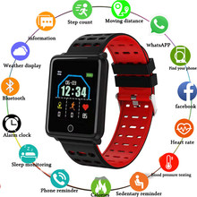 F3 Big Color Screen Smart Watch IP68 Waterproof Heart Rate Monitor Tracker Blood Pressure Smart Wristband Step Counter Sleep(China)