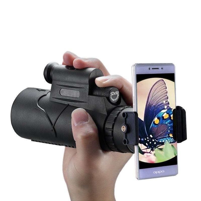 Новые dcqh 12×4 in1 для телефона Монокуляр Водонепроницаемый телескопа с телефона адаптер кемпинг focues Путешествия бинокль birdwatch