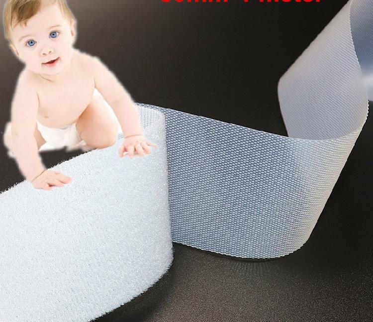 Soft thin Hook and Loop fastener tape for baby diaper bra clothing hook loop straps no hurt skin 2cm*1m 10cm*10cm