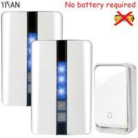 YIFAN New Wireless Door Bell Waterproof Self Powered With No Battery EU Plug Smart DoorBell 1