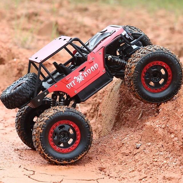 RC voiture 1/14 4WD 2.4 Ghz télécommande électrique Rc jouets enfants voiture Bigfoot monstre escalade voiture tout-terrain jouets enfants Surprise cadeaux