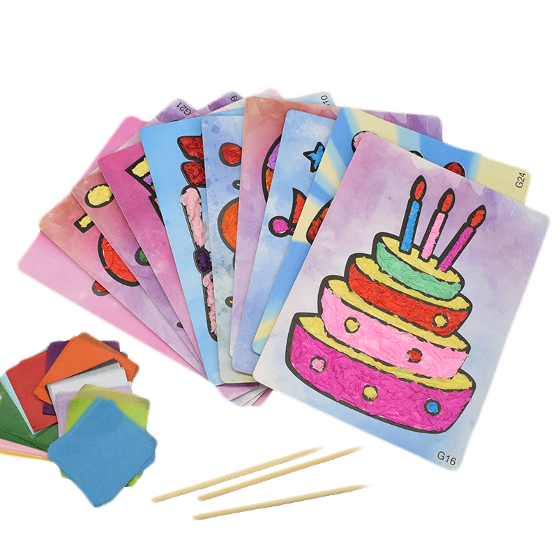 12 Pattern DIY Crafts Toys For Children Kindergarten Handicraft Material Felt Paper Cake Handwork Arts And Craft Kids Toy Gift